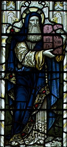 Moses and the Tablets, St Michael's Church, Warfield, Berks