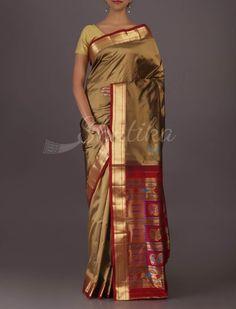 Bhanu Trendy Paithani Inspired Gorgeous #BangaloreWeddingSilkSaree