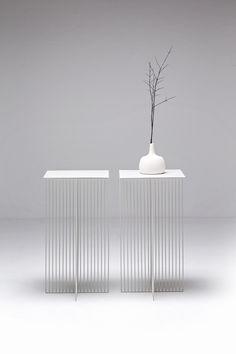 Square steel coffee #table ACCURSIO by La Cividina   #design Antonino Sciortino #white