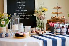 dessert table for a bridal shower