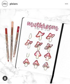 I love these fun mushroom bullet journal layout & spread ideas! Check out these gorgeous mushroom bullet journal page ideas and even fun facts about mushrooms. Bullet Journal Novembre, Bullet Journal Hacks, Bullet Journal Notebook, Bullet Journal Spread, Bullet Journal Layout, Bullet Journal Ideas Pages, Bullet Journal Inspiration, Journal Pages, Journal Aesthetic