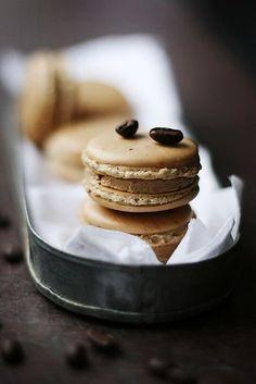 #Cardamom coffee macarons.