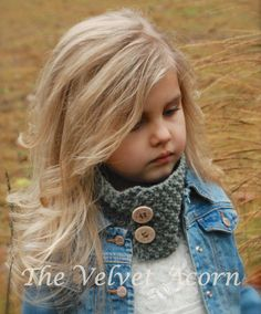 KNITTING PATTERN-Parisian Cowl Toddler Child and Adult
