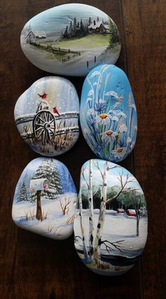 Bemalte Steine Landscape rocks - Three Tips For Designing with Light The Rock Painting Patterns, Rock Painting Ideas Easy, Rock Painting Designs, Paint Designs, Pebble Painting, Pebble Art, Stone Painting, Painted Rocks Craft, Hand Painted Rocks