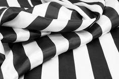 40 yds Stripe Satin Fabric Roll - Black & White