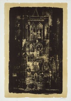 John Piper, '18. Gedney, Lincolnshire: a Tower in the Fens' 1964