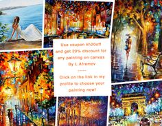Only Today! Use coupon kh20off and get 20% discount for any oil Painting On Canvas By Leonid Afremov - Free Shipping To Any Place In The World  https://afremov.com/?utm_source=s-coupon&utm_medium=/coupon&utm_campaign=ADD-YOUR  --- #abstract #abstractart #abstractartist #abstractarts #abstracted #girl #boy #beautiful #instagood #instalove #loveher #artpainting #afremov