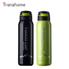 Transhome Thermos Mug Outdoor Stainless Steel Coffee Mugs Cup Creative Portable Sports Bottle With Lid Gift Travel Water Bottles #Affiliate