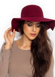 Wide Brim Felt Hat