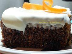 Κέικ με καρότο και γλάσο φανταστικό!!. ~ ΜΑΓΕΙΡΙΚΗ ΚΑΙ ΣΥΝΤΑΓΕΣ Greek Desserts, Greek Recipes, Sweets Cake, Cupcake Cakes, Cupcakes, How To Make Cake, Food To Make, Food Network Recipes, Food Processor Recipes