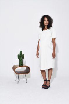 Koka Mama Textured Shift Dress Maternity Style, Maternity Fashion, White Dress, Texture, Collection, Dresses, Surface Finish, Vestidos, Maternity Styles