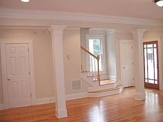 living room with columns - Google Search