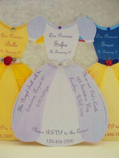 Mooie Disney Prinsessen uitnodiging