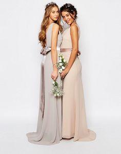 TFNC | TFNC WEDDING Sateen Bow Back Maxi Dress