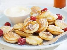 Also known as poffertjes, these lovely little morsels are very addictive and lovely served piping hot with maple syrup, icing sugar and a beautiful vanilla ice-cream. Be careful though as one serve is never enough!