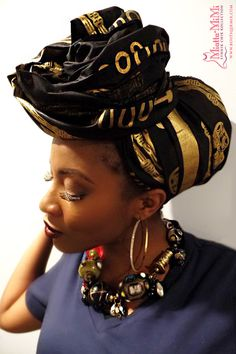 African clothing African fabric African head wrap by BoutiqueMix
