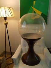 Vintage Mid Century 1960's Plastic Terrarium Tulip Base Eames Era RETRO CHIC