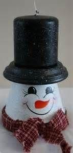 terra cotta pot snowman - Bing Images