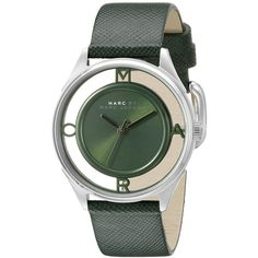 Marc by Marc Jacobs Tether Analog Display Analog Quartz Green Watch (265 CAD) ❤ liked on Polyvore featuring jewelry, watches, green quartz jewelry, quartz watches, marc by marc jacobs jewelry, water resistant watches and analog wrist watch