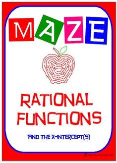 """✐ This product is a good practice/review of """"Finding the x-intercept(s) of Rational Functions"""" which is an important element that is needed before graphing these functions."""