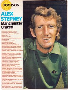 Focus On with Alex Stepney of Man Utd with Shoot! magazine in 1972.