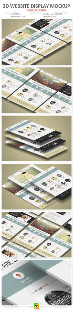 3d Website Display Mockup #presentation #web #design Download: http://graphicriver.net/item/3d-website-display-mockup/8284786?ref=ksioks