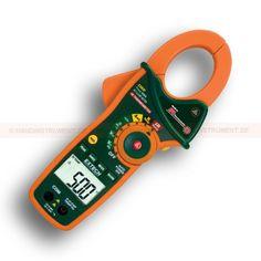 http://termometer.dk/stromtang-r13561/ac-stromtang-r13562/amperemeter-med-ir-termometer-og-sand-rms-53-EX820-r13581  Amperemeter med IR termometer og Sand RMS  Infrarødt termometer med laser pointer  Sand RMS strøm og spænding målinger  Peak hold indfanger indkoblingsstrømme og hurtige forbigående  Multimeter funktioner omfatter AC / DC spænding, AC strøm, modstand, kapacitans, frekvens, diode, kontinuitet og Type K termometer  43mm klemme bredde for sensorer op til 750MCM eller...
