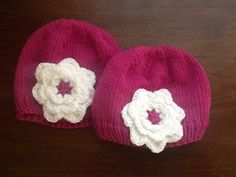 Hats I made for the twins.