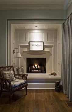 Archer & Buchanan Architecture, Ltd. + Inset Fireplace