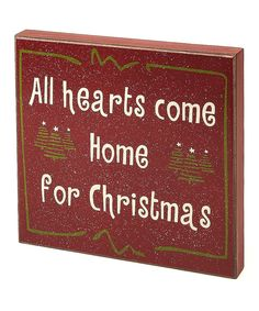 Take a look at this Red 'Home for Christmas' Box Sign on zulily today!