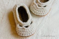 Crochet Patterns Baby Shoe Yoke Ballet por TwoGirlsPatterns