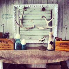 A Southern Belle with Northern Roots/Junkflirt: Deer Antler Mantle