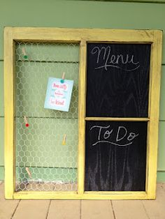 Old Window Message Board
