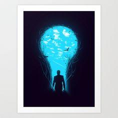 Bright Side Art Print by Nicebleed - $17.00