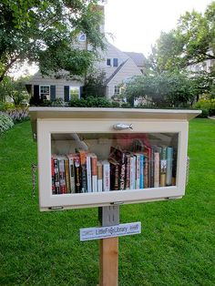 MINNESOTA, St. Paul  #2464. Get creative with an old cabinet and turn it into a Little Free Library!