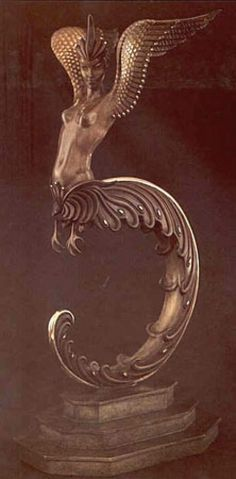 Firebird Bronze Sculpture by Erte