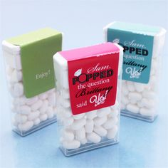 He Popped the Question Personalized Tic Tacs Favors