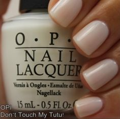 perfect mani color -- OPI, Don't Touch My Tutu