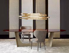 Nella Vetrina Rugiano Wings 4050/240L Ebony Dining Table