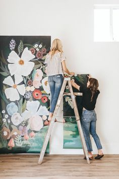 Alice's Forest Mural, Magical Floral Canopy Wallpaper for Walls Kids Room Murals, Kids Room Paint, Wall Murals, Wall Art, Diy Wall, Kids Rooms, Nursery Wallpaper, Kids Wallpaper, Wallpaper Ideas