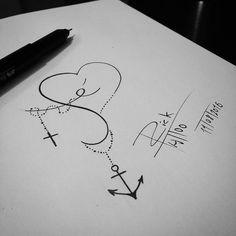 """322 Likes, 6 Comments - Rick Tattoo (@rick_tattooscp) on Instagram: """"Sem fé e amor não a segurança ❤⚓ #tattoodesings #tattoodraw #tattooispiration #tattooink #draw2me…"""""""