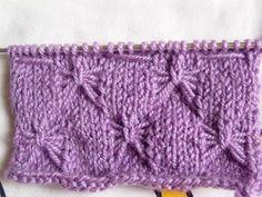Bufanda tejida con dos aguja a punto de mariposa - Manualidades y Labores