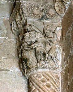 Burgos Santo Domingo de Silos Capitel de la Puerta de las Vírgenes Lorenzo Ghiberti, Graven Images, Romanesque Art, Carolingian, Renaissance, Ancient Architecture, Green Man, Middle Ages, Art History