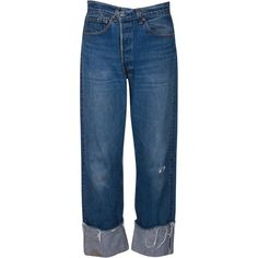 VINTAGE JEAN (2 570 ZAR) ❤ liked on Polyvore featuring jeans, blue jeans and vintage jeans