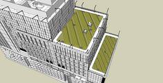 Van Ness MOB Green Roof - Sketchup View