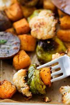 The ultimate sheet pan healthy roasted vegetables, perfectly spiced and roasted to sweet tender perfection! Great for meal prep too! #roastedvegetables #sheetpan #healthy #smartpoints #weightwatchers #healthysidedishes #fallrecipes