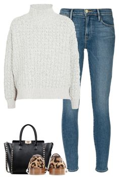 """""""Untitled #7524"""" by fanny483 ❤ liked on Polyvore featuring Frame Denim, STELLA McCARTNEY, Valentino and Victoria Beckham"""