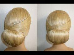 Frisur mit Duttkissen/Dutt.Hochsteckfrisur.Abiballfrisur.Donut Hair Bun Hairstyle.Chignon Donut - YouTube