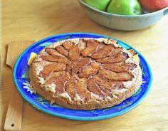 Giant Baked Upside-Down Apple Pancake (#glutenfree #vegan #sugarfree)