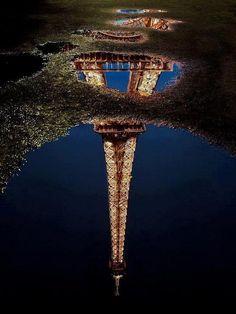 Paris Eiffel Reflections